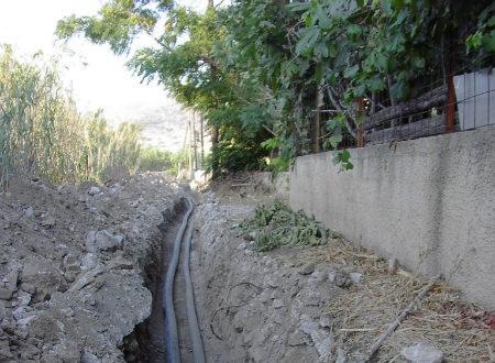 Κατασκευή καταθλιπτικού αγωγού Α/Φ Γαλησσά και δικτύων ύδρευσης Άνω Σύρου