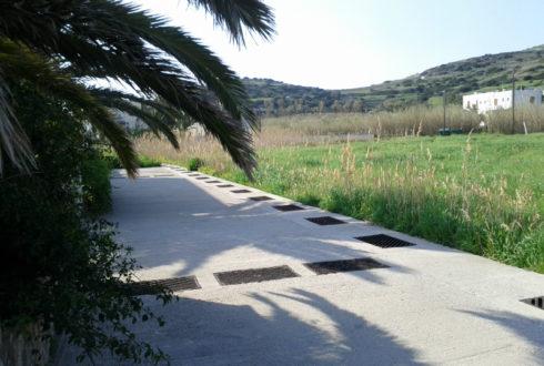 Κατασκευή δικτύου αγωγού ομβρίων οικισμού Κινίου και Γαλησσά Δήμου Άνω Σύρου